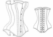 1870-1895 Late Victorian Corset Pattern