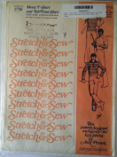 Stretch & Sew Pattern No 1750 Men's T-shirt and Tab Front Shirt Chest Size 34-48