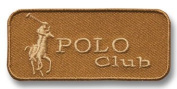 Exclusive Embroidered Motif 'Polo Club' beige, for ironing on