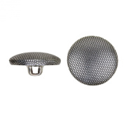 C & C Metal Products 5052 Beaded Pattern Dome Metal Button, Size 30 Ligne, Antique Nickel, 36-Pack