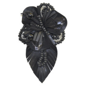 Rhinestone Brooches BW-100 Pleather Brooch with Pin
