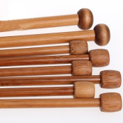 8 Sizes Bamboo Crochet Knitting Needles Set 4mm-12mm