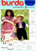 Burda 6378 Crafts Sewing Pattern Boy & Girl Dolls & Wardrobe