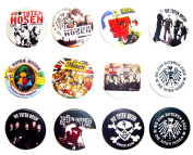 DIE TOTEN HOSEN German Awesome Quality Lot 12 New Pin Pinback Button Badge 3.2cm