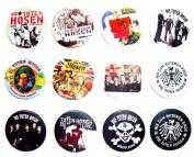 DIE TOTEN HOSEN German Awesome Quality Lot 12 New Pin Pinback Button Badge 3.2cm