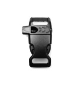 75xt Curved Whistle Buckles 1.3cm Black, Great for Paracord Bracelets. Used for Emergencies