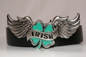 Irish Shamrock Wings St Patricks Day Belt Buckle
