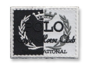 Exclusive Embroidered Motif 'Polo Royal Horse Club' black, for ironing on