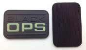 Black OPS Glow in the Dark PVC IFF hook and loop Patch - Black