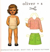 Oliver + S Hopscotch Skirt Knit Top + Dress Pattern Sizes 5-12 By The Each
