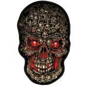 Hot Leathers Skull Makes Skull Biker Patch
