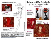 Mediaeval or Gothic Period Hats Pattern