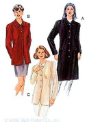 Kwik Sew 2736 Misses Lined Semi-Fitted Jacket Sewing Pattern Sizes XS-XL