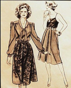 Stretch & Sew 407 Misses Soft Pleated Skirt Sewing Pattern Misses Hip Size 30 to 46 Vintage 1980s