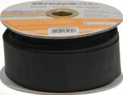 Stretchrite 3.8cm by 10-Yard Black Heavy Stretch Knit Elastic Spool