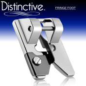 Distinctive Fringe Sewing Machine Presser Foot - Fits All Low Shank Snap-On Singer*, Brother, Babylock, Euro-Pro, Janome, Kenmore, White, Juki, New Home, Simplicity, Elna and More!