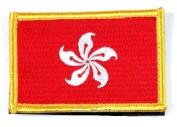 Matrix hook and loop Hong Kong Flag Patch