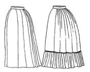 1870s Underskirt Pattern