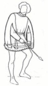 1300's to 1400's Men's Tunics and Short Houppelande Pattern