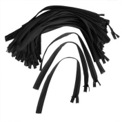 46cm Black Nylon Invisible Zipper Sewing for Skirt Dress Pillow Pack Of 50