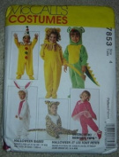 McCall's Costumes Halloween Babes 7853 (Clown, Ballerina,Santa, Lion, Mouse, Tiger, Bunny & Dragon) Infants/Toddler Sz. 1-4