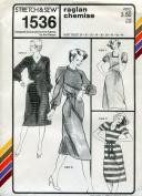 Stretch & Sew Pattern 1536 ~ Raglan Chemise ~ Bust 28-44