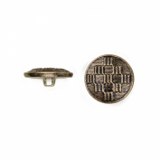 C & C Metal Products 5036 Ribbed Diamond Pattern Metal Button, Size 24 Ligne, Antique Gold, 72-Pack