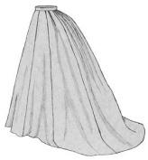 1869 Grand Parlour Skirt Pattern