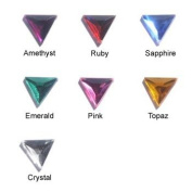 13mm Assorted Colours Triangle Jewels - 150 Pieces