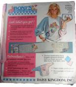 Daisy Kingdom 5103 Boni's Bunnies + Bears Women's Oversized Shirt Kit Bears on a Quilt