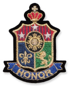 Exclusive Embroidered Motif 'Honour' for ironing on