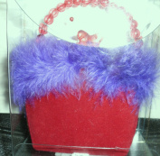 Keepsake Novelty Pin Cushion - Purse - Red / Purple - item Z00303