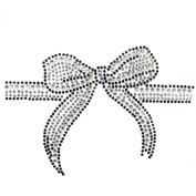 Rhinestone Transfer Hot Fix Motif Fashion Design Jewellery Gift Ribbon 3 Sheets 5.3*8.6cm