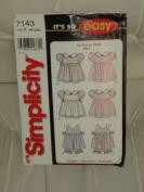 "Simplicity Sewing Pattern ""It's So Easy"" #7143 : Babies Dress, Pinafore & Panties"