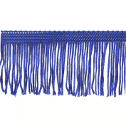 Chainette Fringe 10-Yard Polyester Fringe Rolls for Arts and Crafts, 5.1cm Long, Navy