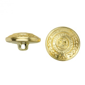 C & C Metal Products 5032 Heraldic Metal Button, Size 30 Ligne, Gold, 36-Pack