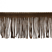 Chainette Fringe 10-Yard Polyester Fringe Rolls for Arts and Crafts, 5.1cm Long, Brown