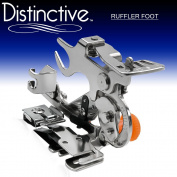 Distinctive Ruffler Sewing Machine Presser Foot - Fits All Low Shank (Top-Loading Drop-In Bobbin Machines Only) Singer, Brother, Babylock, Euro-Pro, Janome, Kenmore, White, Juki, New Home, Simplicity, Necchi and Elna Sewing Machine