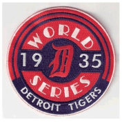 1935 Detroit Tigers MLB World Series Champions Patch Jersey