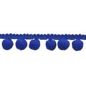 Pompom Fringe 2.5cm Polyester Fringe Rolls for Arts and Crafts, 10-Yard, Navy