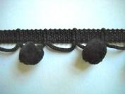 Black Ball Fringe Vintage Style 2.9cm 12 Yds