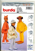 Burda 2807 Child's Costume Pattern, Farm Animals