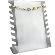 Frosted, Notched Bracelet or Necklace Display Rack