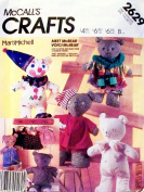 McCall 2629 sewing pattern makes Marti Mitchell McBear Stuffed Bears and Clothes