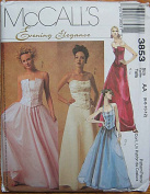McCall's 3853 Sewing Pattern ~ Misses' Elegant Tops and Skirts, Prom, Wedding, Bridesmaid, 2 Piece Gown, Sizes 6, 8, 10, 12