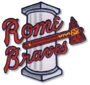 Rome Braves Minor League Primary Team Logo Patch