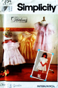 Simplicity 7354 Heirloom Little Girl Dresses (SIZE 3-8) SEWING PATTERN