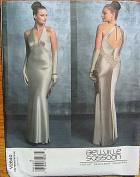 Vogue 2840 Sewing Pattern ~ Designer Bellville Sassoon Misses' Halter Evening Gown, Sizes 6, 8, 10