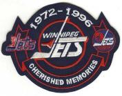 Winnipeg Jets Cherished Memories Patch (1972-1996) Blue Version