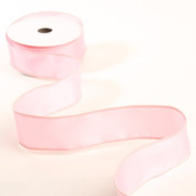 3 Spools - 3.8cm Wide Pink Satin Wired Edge Ribbon - 30 Yards Total